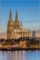 Gallery print  The Cologne Cathedral in the evening - Michael Valjak