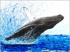 Wall sticker  Dance of the whales - Ashvin Harrison