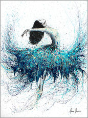 Wall sticker  Opals and Waves Ballerina - Ashvin Harrison