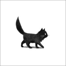 Wall sticker  Little black cat - Terry Fan