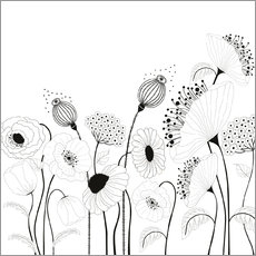 Colouring poster  Small poppy field