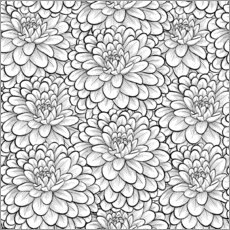 Colouring posters  Flowers allover