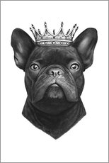 Gallery print  King French bulldog - Valeriya Korenkova
