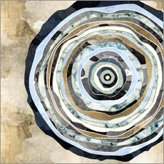 Gallery print  Wood Slice Abstract - SpaceFrog Designs