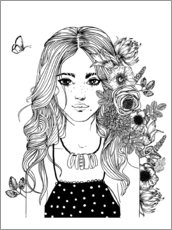 Colouring posters  Flower girl