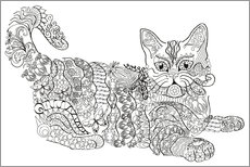 Colouring poster  Zendoodle cat