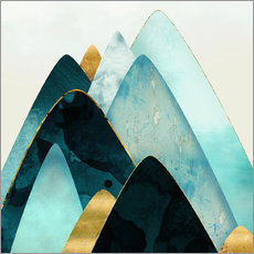 Wall sticker Gold and Blue Hills