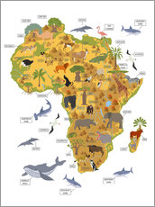 Wall Stickers  African animals - Kidz Collection