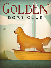Wall sticker Golden Boat Club