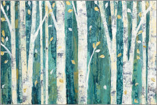 Wall sticker  Birches in Spring - Julia Purinton