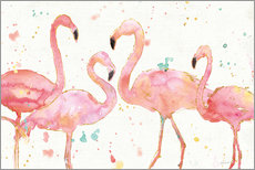 Gallery print  Flamingo fever I - Anne Tavoletti