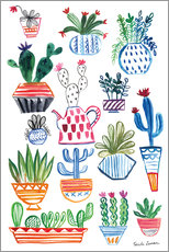 Wall Stickers  Funky Cacti I - Farida Zamann