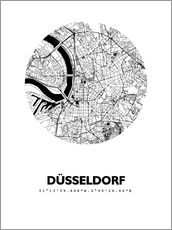 Wall sticker  City map of Dusseldorf - 44spaces