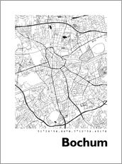 Wall sticker  City map of Bochum - 44spaces