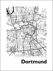Gallery print  City map of Dortmund - 44spaces