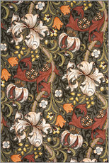 Wall sticker  Golden Lily - William Morris