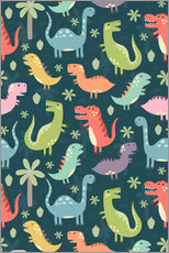 Wall Stickers  Colorful dinosaurs - Kidz Collection