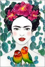 Wall sticker  Frida's lovebirds - Mandy Reinmuth