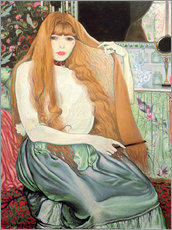 Wall sticker  Woman combing her hair - Louis Anquetin