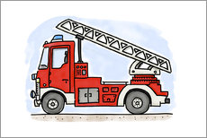 Wall Stickers  Hugos fire department cart - Hugos Illustrations