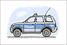 Wall sticker  Hugos German police car - Hugos Illustrations