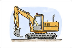 Gallery print  Hugos digger - Hugos Illustrations