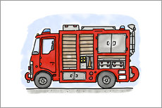Wall sticker  Hugos fire department emergency vehicle - Hugos Illustrations