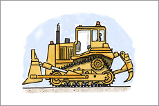 Gallery print  Hugos bulldozer - Hugos Illustrations
