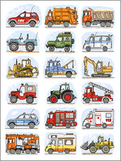 Gallery print  All my cars - Hugos Illustrations