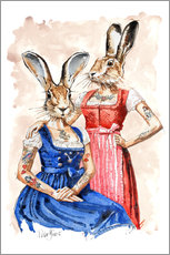 Gallery print  Cute Lady-Bunnys - Peter Guest