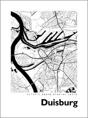 Gallery print  City map of Duisburg - 44spaces
