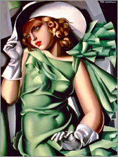 Wall sticker  Young lady with gloves - Tamara de Lempicka