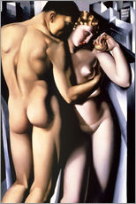 Wall sticker  Adam and Eve - Tamara de Lempicka