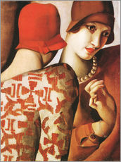 Wall sticker  Sharing Secrets - Tamara de Lempicka
