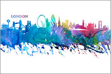 Wall sticker  Skyline LONDON Colorful Silhouette - M. Bleichner
