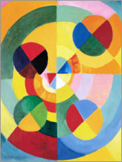 Acrylic print  Rhythm, joy of life (detail) - Robert Delaunay