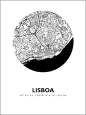 Gallery print  City map of Lisbon - 44spaces