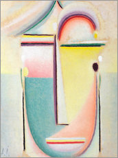 Wall sticker  Abstract head, pervading light - Alexej von Jawlensky