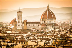 Wall sticker  Cityscape with Cathedral and Brunelleschi Dome, Florence - Cubo Images