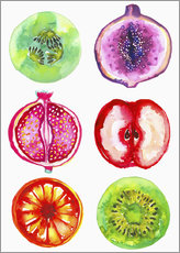 Wall sticker Delicious fruits in watercolor