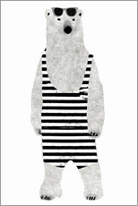Wall Stickers  Polar bear in a bathing suit