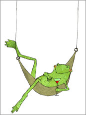 Gallery print  Lazy frog