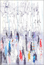 Gallery print  Abstract crowd