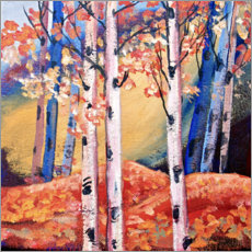 Premium poster Birch trees in autumn