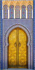 Gallery print  Decorated door of the royal palace - Brenda Tharp