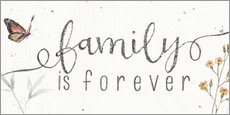 Wall sticker Family is forever