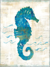 Wall sticker  Seahorses and waves III - Sue Schlabach