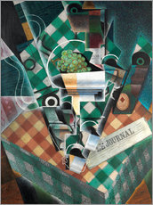 Wall sticker  Still life with checkered tablecloth - Juan Gris