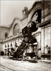 Wall sticker  Train accident at the Montparnasse station, Paris - John Parrot