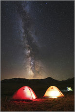 Wall sticker Shining tents under the Milky Way
